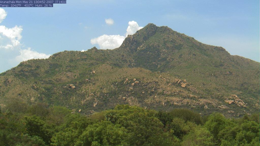 Dettagli webcam Tiruvannamalai