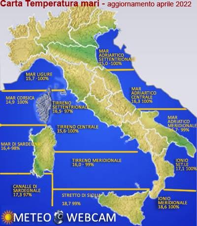 Temperatura superficiale Mediterraneo